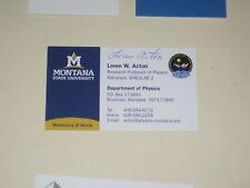 NASA Astronaut LOREN ACTON Signed Business Card AUTOGRAPH