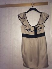 Drama Queen Dress - Size 12 - Cream And Black