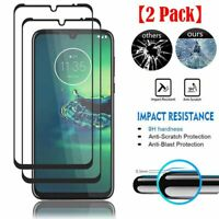 2 x Full Cover Tempered Glass Screen Protector For Motorola Moto G8 Plus G8 Play