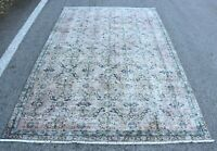 Traditional Bohemian Turkish Carpet Oushak Hand Knotted Oriental Area Rug 5x9 ft