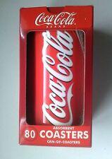 Coca Cola COASTER TIN--80 Bathing Beauty COASTERS IN Coca Cola Can (2002)