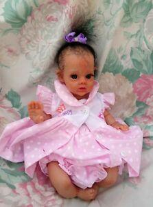 "Reborn baby girl mini Flower Fairy Violet 12"" 2lb JosyNN Fantasy reborn JosyNN"