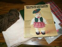 4227) Campbell Kid Doll Kit Pattern Instructions Fabric Misc Pieces To Complete