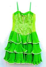 Betsey Johnson Green Tiered Party Cocktail Evening Dress 8 S to M Waist 28""
