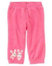 NWT Gymboree Glamour Ballerina Pink Bunny Fleece Pants Size 3-6 M