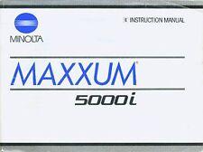 MINOLTA MAXXUM 5000i SLR 35mm CAMERA OWNERS INSTRUCTION MANUAL