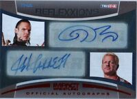 TNA Jeff Hardy & Jarrett 2012 Reflexxions RED Dual Autograph Card SN 22 of 25