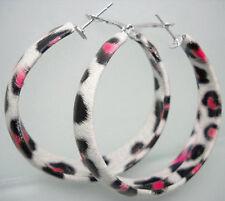 E1054 fashion leopard circle hoop earrings jewelry Christmas gift