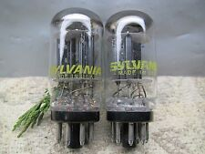 SYLVANIA / PHILLIPS 6SN7 GTB   NOS Well-Balanced  Gm & Ip  PLATINUM MATCHED PAIR