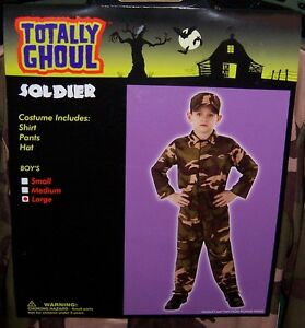 TOTALLY GHOUL BOY'S ARMY SOLDIER HALLOWEEN COSTUME NWT!  SIZE MEDIUM
