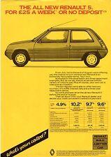 Renault 5 & 11 Special Offer Mid 1985 UK Market Leaflet Sales Brochure