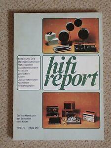 Hifi Report 1975 - Testberichte und Marktübersichten, Fono Forum, Selten