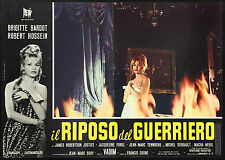 CINEMA-fotobusta IL RIPOSO DEL GUERRIERO bardot,hossein,justice,porel,VADIM