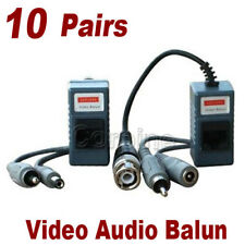 10Pair Video Audio Coax CCTV Security Camera Power Balun Network Transceiver 1TF