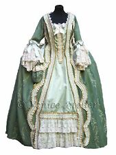 Venice Carnival Costume Masquerade Fancy Dress Outfit Handmade Woman 1700