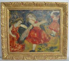 Rifka Angel Oil on Board Ballet Dancers