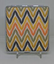 Luckys Chevron Design Yellow Stripe PU Leather King Size Cigarette Case