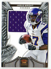 JARIUS WRIGHT NFL 2012 CROWN ROYALE JERSEY AUTOGRAPH ROOKIE CARD (VIKINGS) #/299