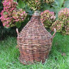 """Old French Glass Demijohn """"Bonbonne"""" Wine Bottle Wicker"""