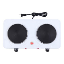 2000W Electric Double Burner Hot Plate Heating Portable Kitchen Cooking Stove