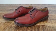 Women's Red Leather FRYE Bud Lace Oxfords Casual Dress Blucher Shoes Sz-7.5B USA