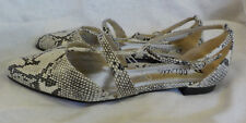 "Bellini T Strap Flat Size 9 M NWOT Passion Snake Embossed Design .5"" Heel Buckle"