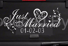 Just Married Car Window Decal, Wedding Married Sign, Wedding Car Decor