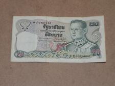 Thailand 20 Baht Banknote 1981 P-88 Sign 60 Horse Circulated JCcug 7j