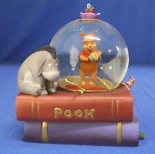 Winnie the Pooh Piglet Eeyore on Books Mini Snowglobe Disney Store