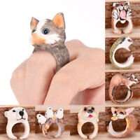 Women Vintage Adjustable  Finger Ring Animal Wrap Fashion Jewelry Rings Gift E&F