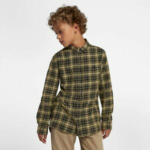 Hurley Kids' Boys' Youth Hurley Woven Plaid Flannel Button Up Shirt