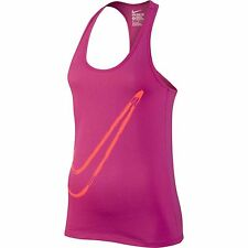 NIKE SWOOSH Racer Back Tank Top Shirt - Women's Medium M (Bright Pink) NWT