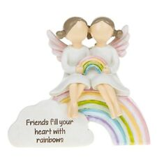 """Rainbow Angels """"Friends fill your heart with rainbows """" Special Gift Figure"""