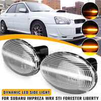 2x Fender LED Side Light Turn Signal For Subaru Forester 01-05 Liberty 2000-03