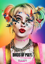 Harley Quinn Birds of Prey Poster Margot Robbie DC Film NEW 2019 FREE P+P, SIZES