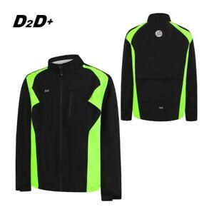 D2D Men's Plus Size Hydroviz+ II Waterproof Cycling Jacket - Hi-vis