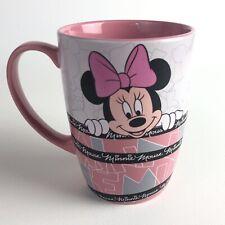 Disney Store Genuine Original Minnie Mouse Coffee Mug White And Pink Ceramic