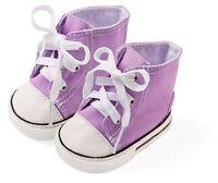 Puppen Schuhe Turnschuhe Chucks purple für  28 - 32 cm Puppen  Schwenk 6332...