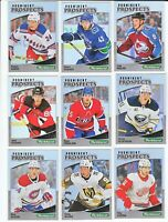 2019-20 Parkhurst PROMINENT PROSPECTS - Complete 25 Card Set