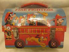 Vintage Hallmark Walt Disney Fire Fighter Metal Dome Lunch Box Brand New
