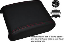 RED STITCHING LEATHER ARMREST LID COVER FITS JAGUAR XF 2008-2014