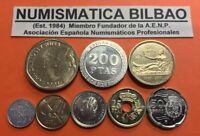 8 monedas ULTIMAS PESETAS 2000/2001 SC España 1+5+10+25+50+100+200+500 PESETAS