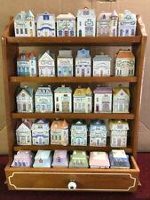 lenox spice village rack, 30 lenox village spice houses, spice holders