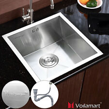 Stainless Steel Kitchen Sink Square Bowl Waste Undermount Plumbing Kit Included