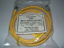 TREX-ONICS TPC MICRO QUICK CONNECT CABLE 67426N 6' LONG 4 POLE **NEW**