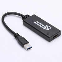 Mini USB 3.0 To HDMI HD TV 1080P Video Cable Adapter Converter For PC Laptop Hot