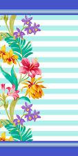 30x60 Floral Stripes Velour Beach Towel 100%Cotton