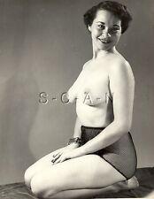 Original Vintage 40s-60s Nude (8 x 10) RP- Detroit- Well Endowed- Sheer Panties