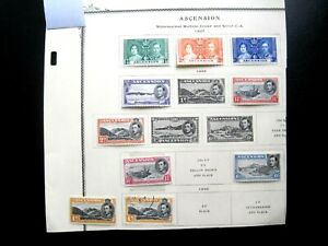 ASCENSION : 9 Diff Stamps 1937 & 1938 (MLH)