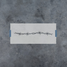Barbed Wire Stencil - Durable & Reusable Mylar Stencils